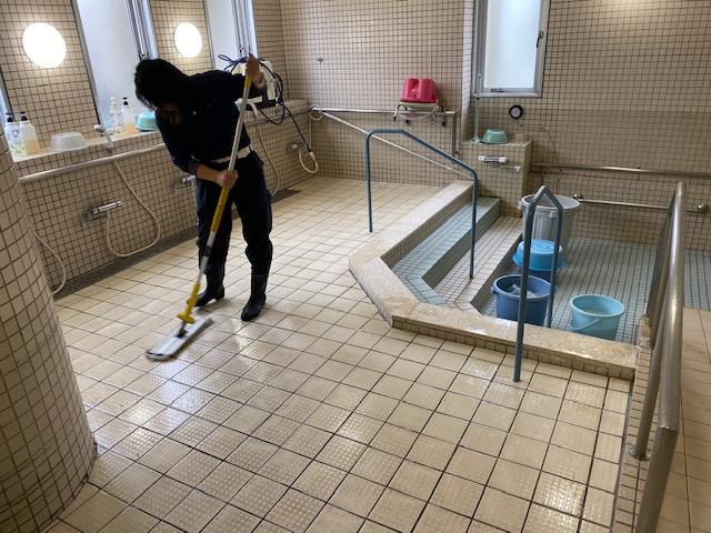 浴室タイルの滑り止め工事